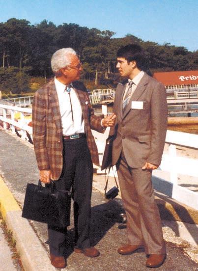 М. Гелл-Ман и А. Линде на конференции the Shelter Island, где Андрей впервые представил свою работу по хаотической инфляции