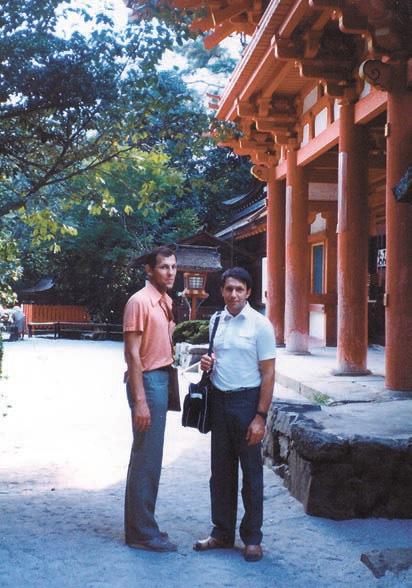 В.Рубаков и А.Линде в Киото, 1985год